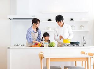 キッチンが家族と孤立化しているので対面キッチンにしたい