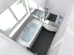 狭いお風呂を広々リフォーム